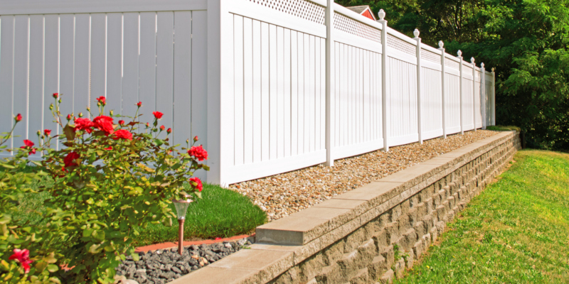 Vinyl fencing is available in many styles and different colors